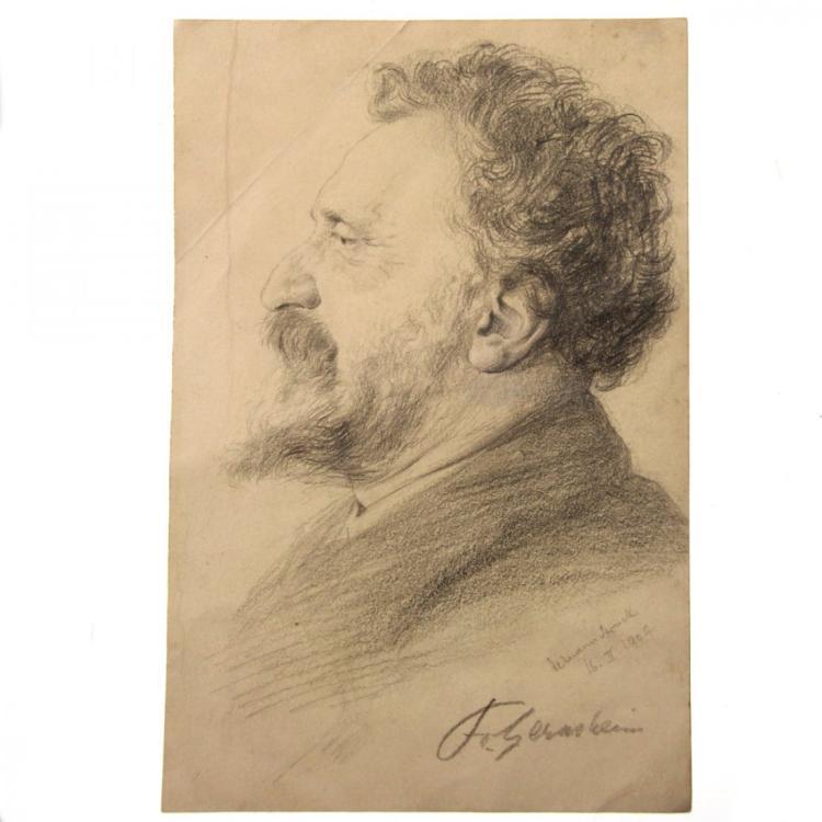 Hermann Struck - Fr. Gernsheim Portrait Pencil on Paper