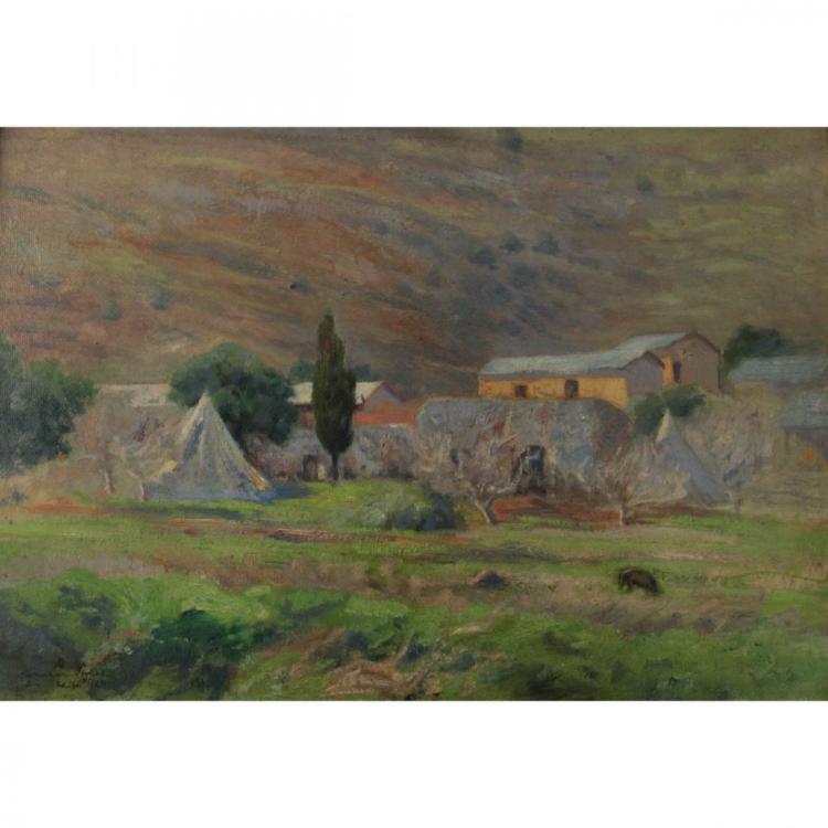 Hermann Struck - Haifa, Oil on Canvas on Masonite, 1924