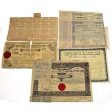 Five Share Certificates.