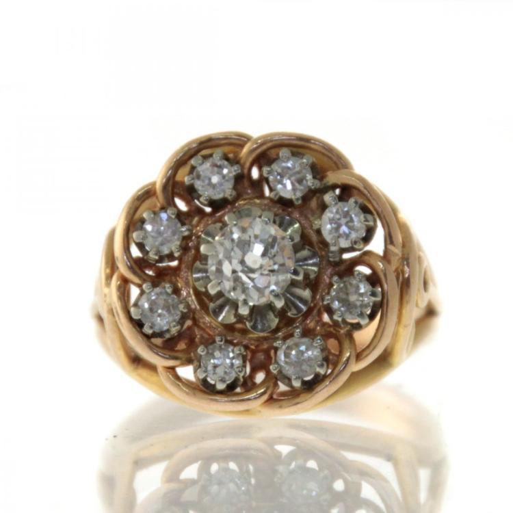 18k Yellow Gold 0.33ct Diamond Ring.