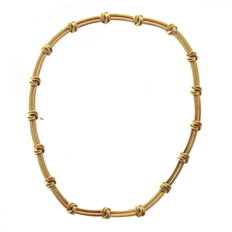 Tiffany & Co 18k Yellow Gold Necklace.