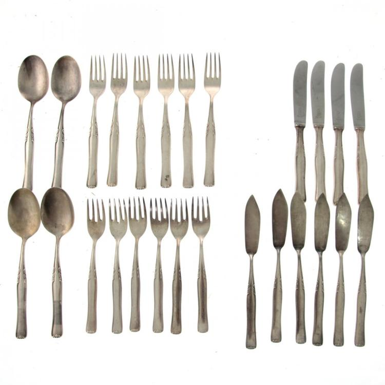 Silver Flatware Set, Germany, Circa 1900.