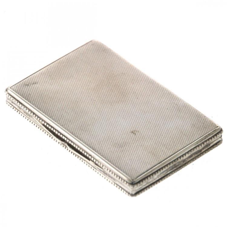 Silver Snuff Box.