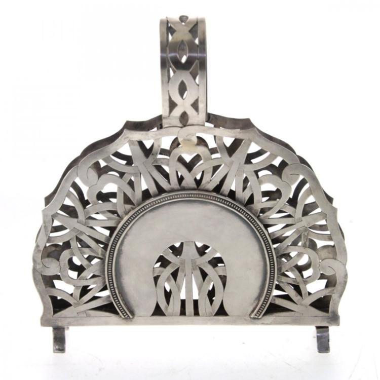 Sterling Silver Napkin Holder.