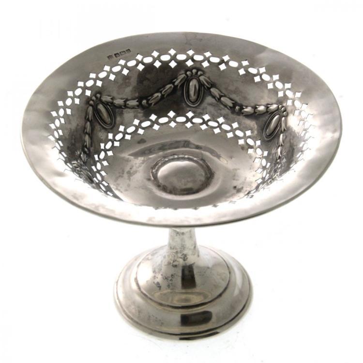 Sterling Silver Footed Bowl, Thomas Bradbury , 1908.