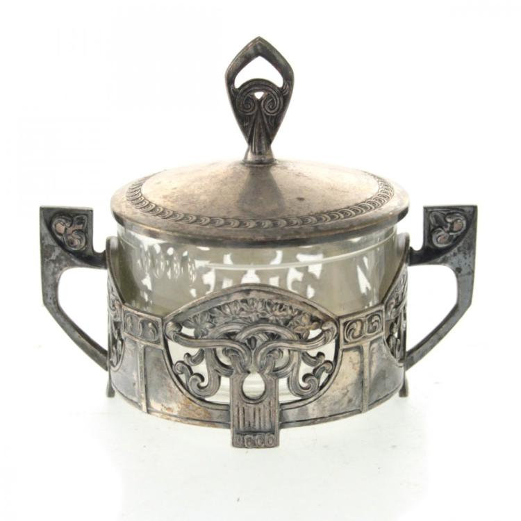 WMF Art Nouveau Sugar Bowl and Cover Germany Circa 1900