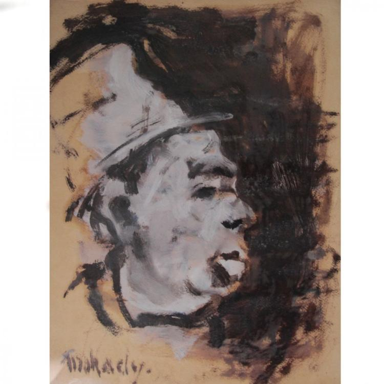 Moshe Mokady, Oil on Paper.