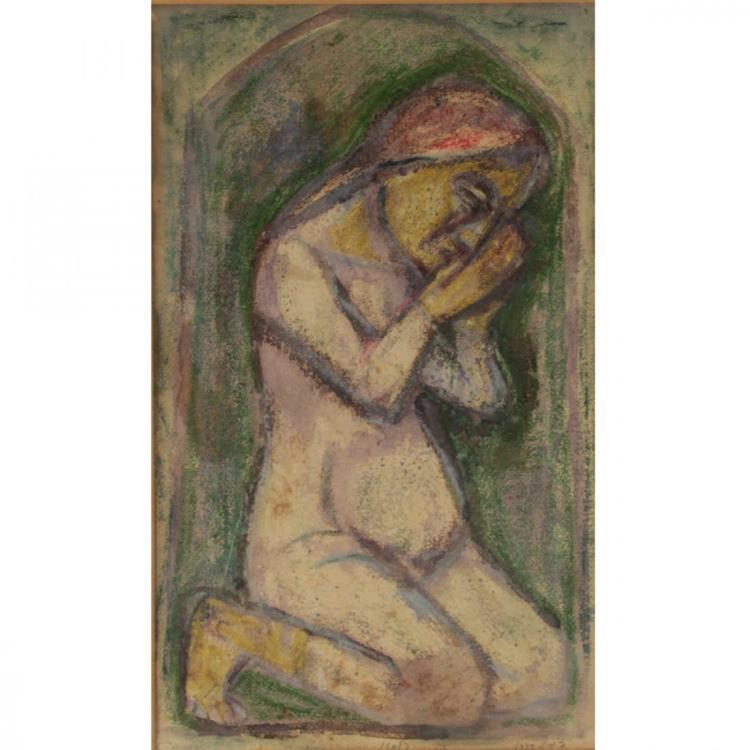 Emanuel Romano Glicenstein - Pastel Watercolor on Paper
