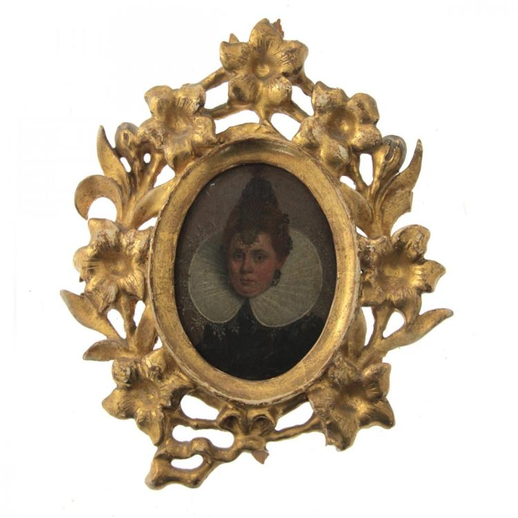 Antique Miniature Painting on Copper.