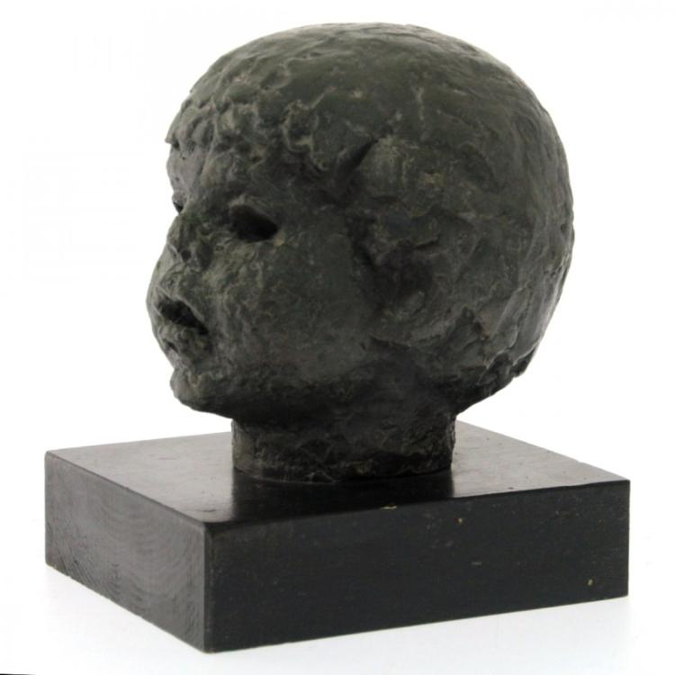 Hannah Evyatar - Boy's Head, Bronze Sculpture.