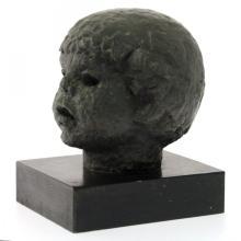 Hannah Evyatar - Boy's Head, Bronze Sculpture.