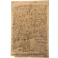 Manuscript Document with Important Rabbinic Signatures.