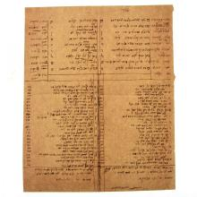 Satiric Manuscript - Akdamut for Purim, 19th Century.