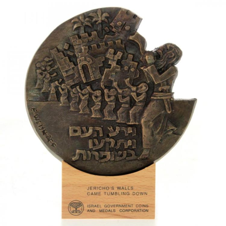 Jericho's Walls - Sculpted Art Bronze Medal.