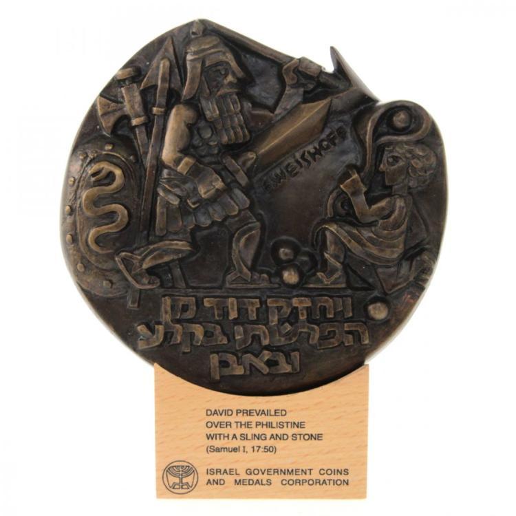 David and Goliath - Sculpted Art Bronze Medal.