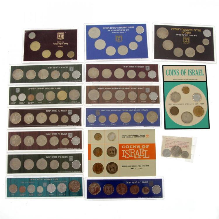 15 Israel Official Mint Sets.