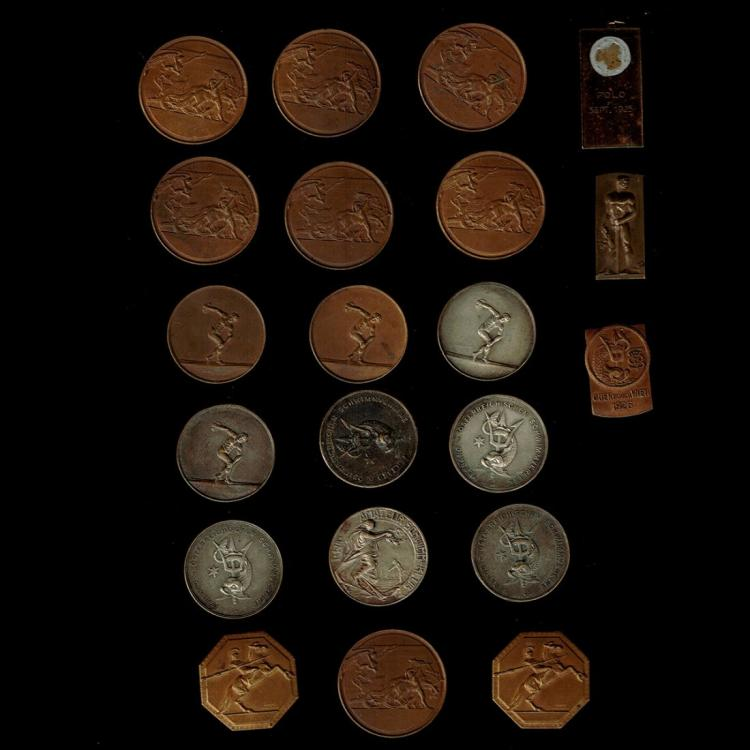 Collection of 21 Sport Medals, Austria, 1920s.