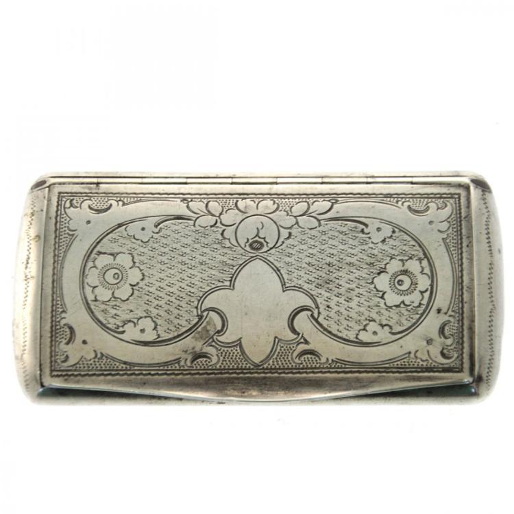 Silver Snuff Box, Vienna, Austria, Circa 1850.