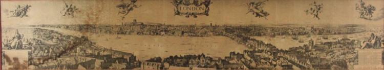 Panorama View of London After Wenceslaus Hollar.