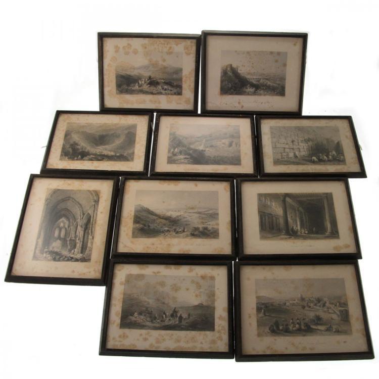 William Henry Bartlett (1809-1854) - 10 Etchings.