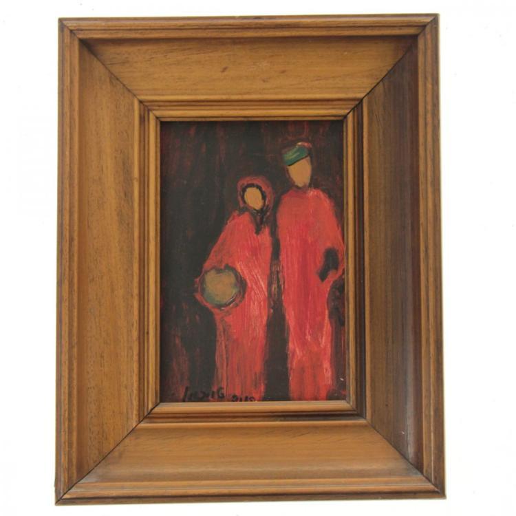 Henia Teichman (b. 1919) - Oil on Board Painting.