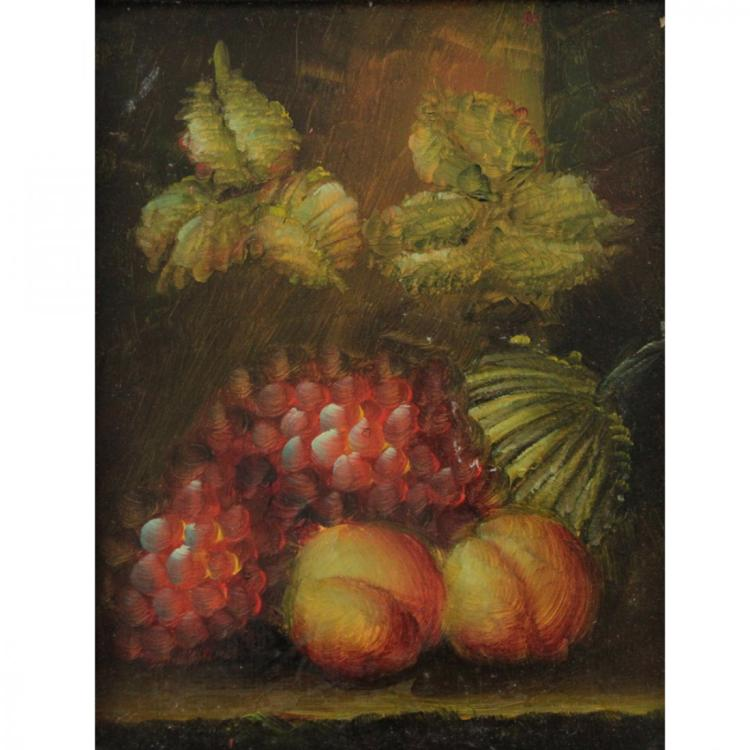 Unidentified Artist - Still Life, Oil on Board.
