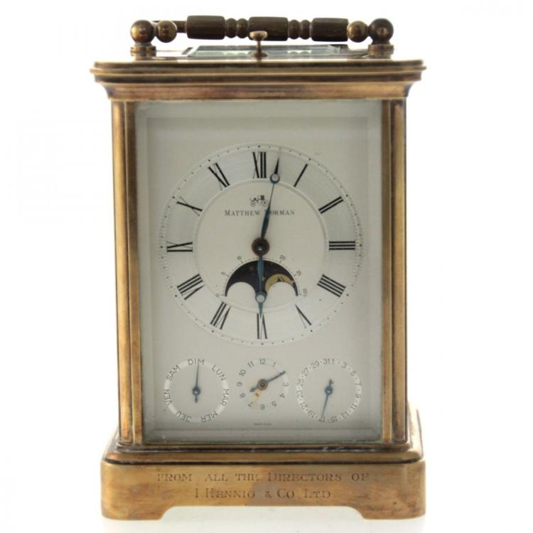 Matthew Norman Repeater Four Dial Carriage Clock.