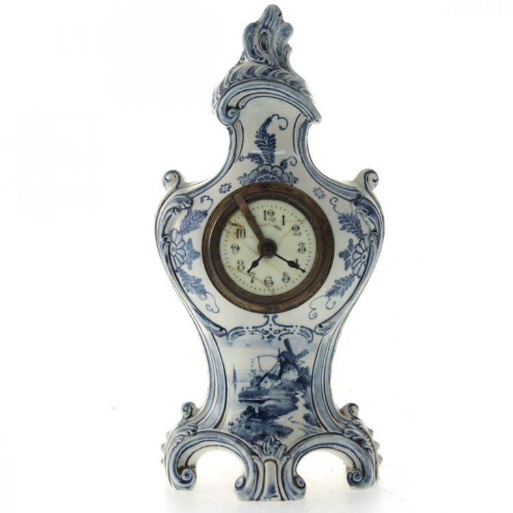 Royal Bonn Delft Mantel Clock.