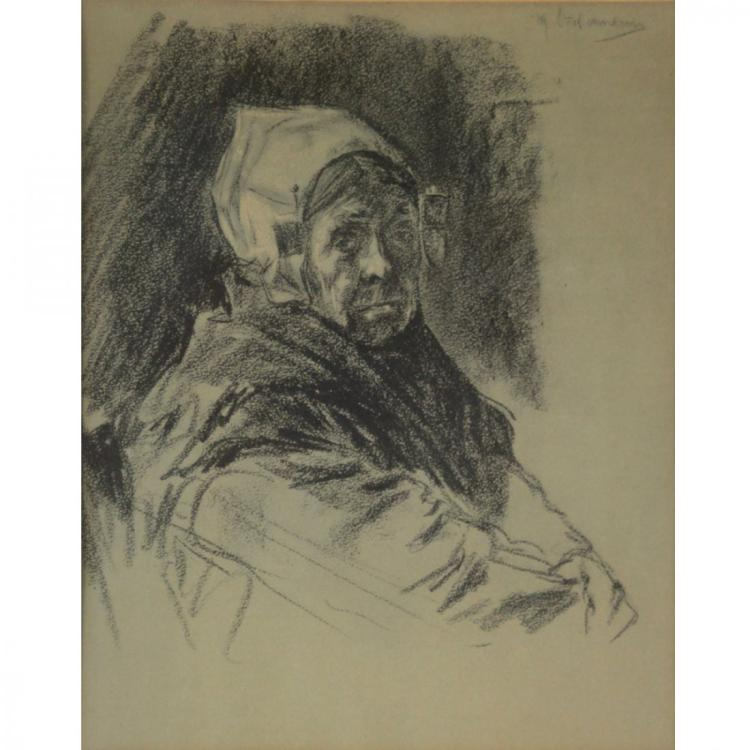 Unidentified Artist - Charcoal on Paper.