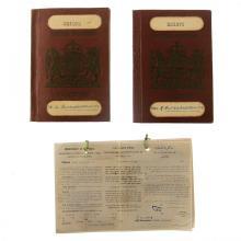 Two Mandatory Palestine Passports.