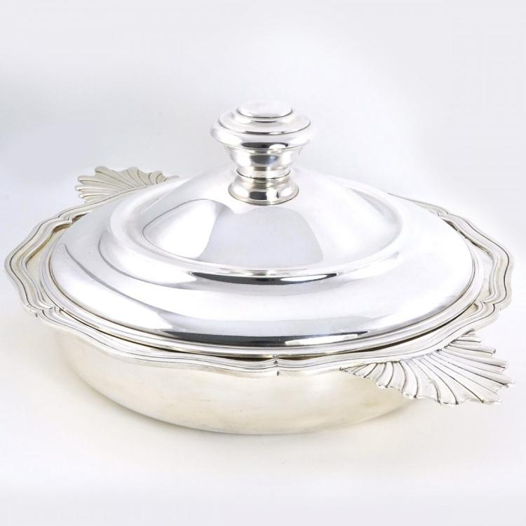 Christofle Sterling Silver Serving Dish Ecuelle Ca 1920