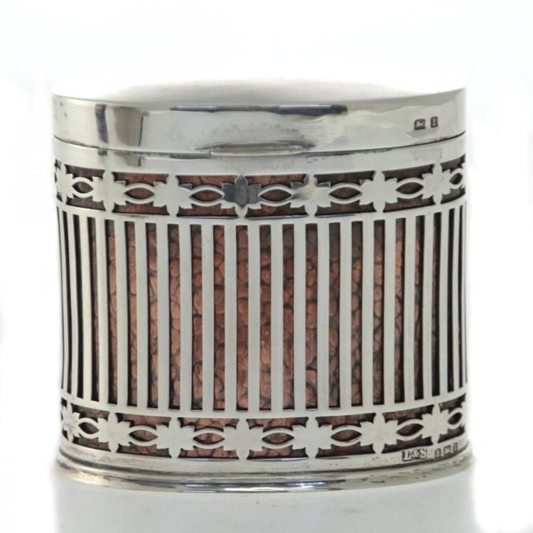 Sterling Silver Cigarette Box, Levi & Salaman, 1935.