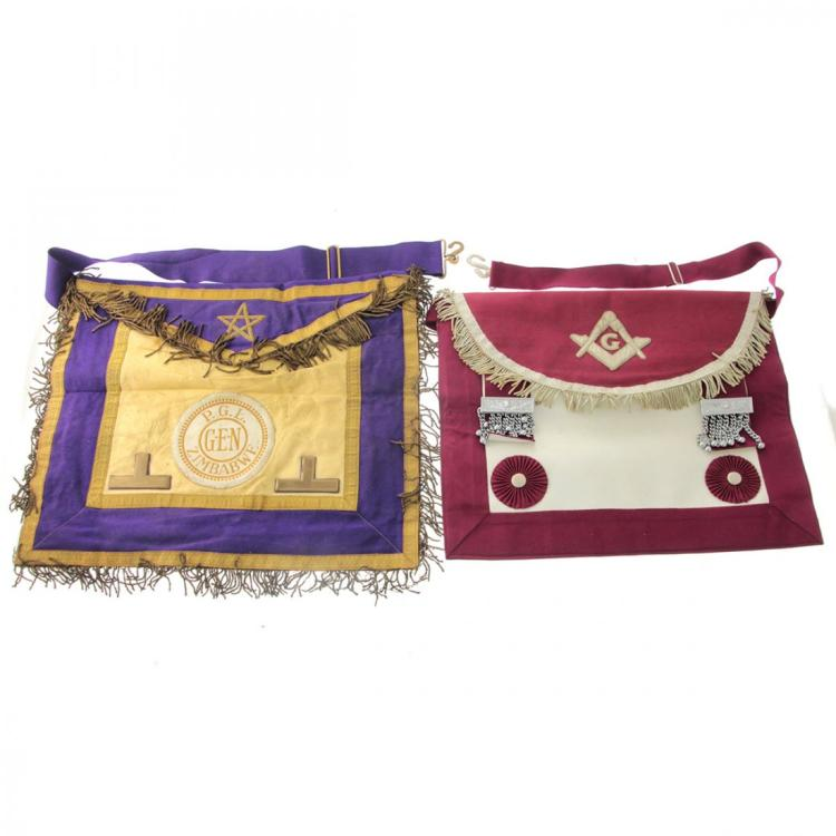 Two Masonic Aprons.