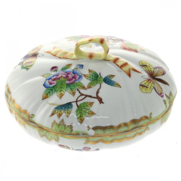 Herend Porcelain Bowl and Cover.