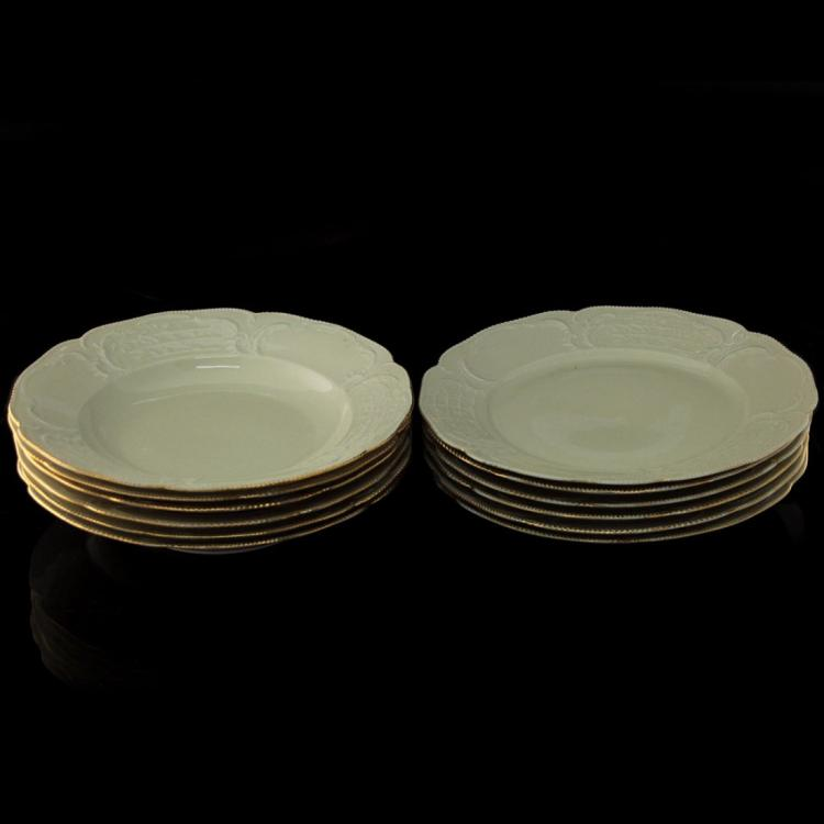 Rosenthal Sanssouci 6 Plates and 6 Bowls.