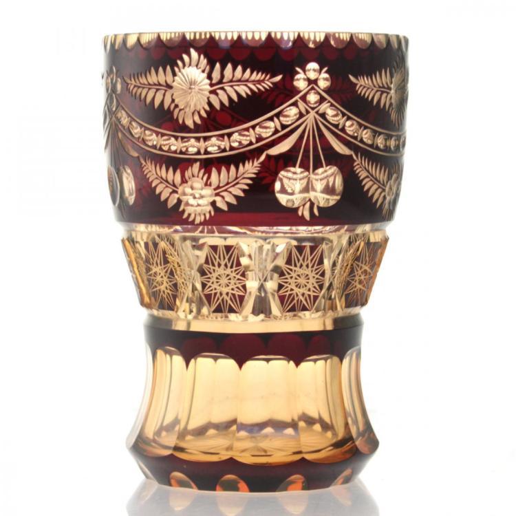 Bohemian Crystal Vase.