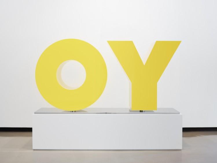 Deborah Kass, OY/YO (Yellow)