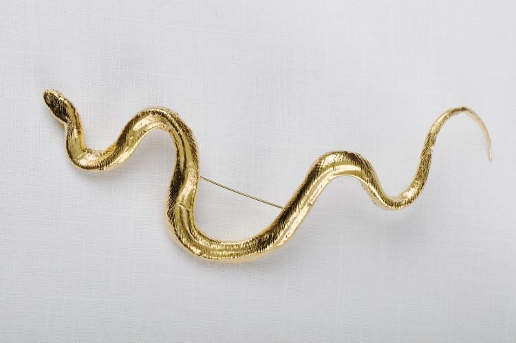 Claude Lalanne, Broche serpent dore