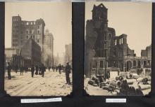 Album of photographs of the devastation caused by the 1906 San Francisco Earthquake