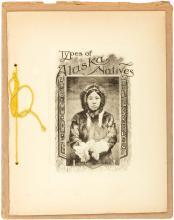 Types of Alaska Natives - rare booklet with photograph portraits of 13 native Alaskans