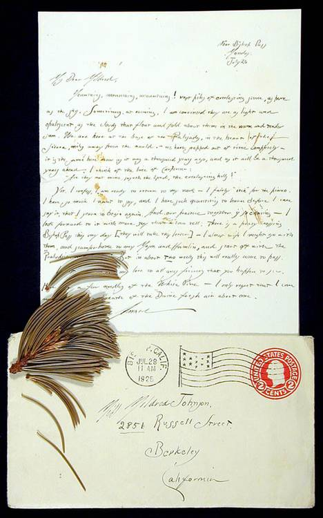 Archive of 24 handwritten letters from Adams to Mildred