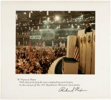 ***WITHDRAWN***Photograph from the 1972 Republican National Convention, signed by Richard Nixon