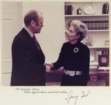 Signed photograph of Gerald Ford
