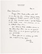 Archive of Typed Letters Signed from Ronald Reagan as Governor of California, 1967-1979 - to publishers James Strohn Copley and Helen K. Copley