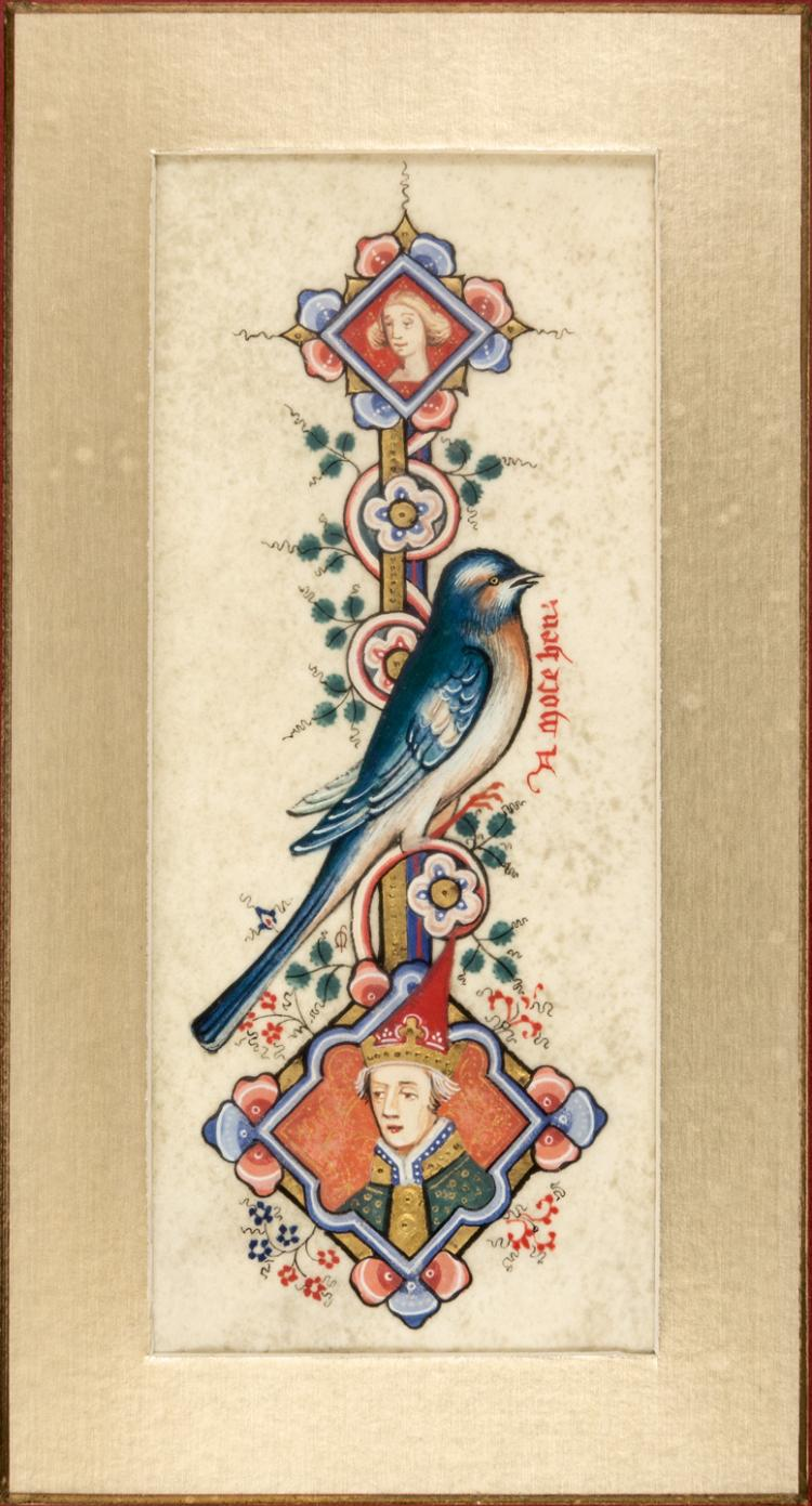 Illuminated miniatures inspired by the Sherborne Missal