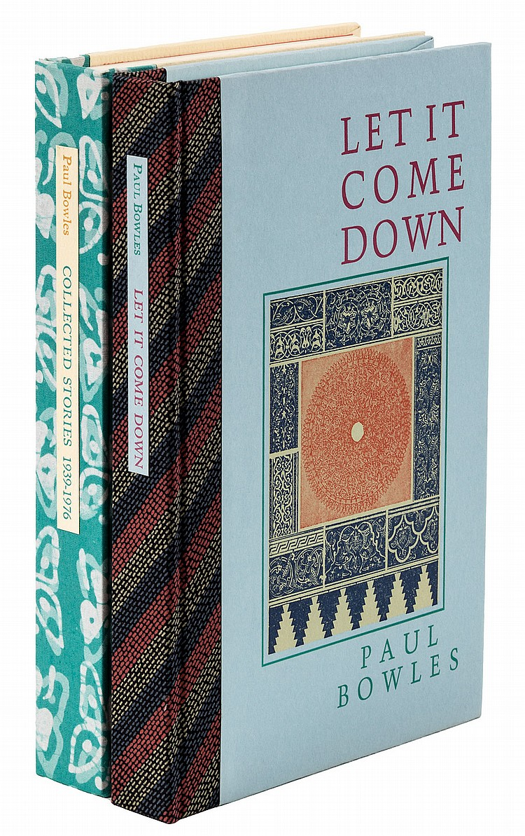 2 signed, limited Paul Bowles book Black Sparrow Press