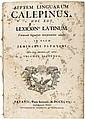 Early dictionaries & encyclopedias
