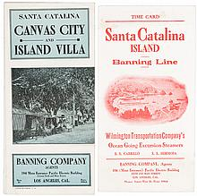 Rare travel brochures for Santa Catalina from 1900-15