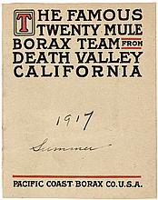 The Famous Twenty Mule Borax Team from Death Valley California (wrapper title)