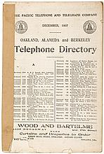 Oakland, Alameda, and Berkeley Telephone Directory. December 1907